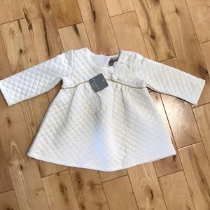 White Tahari Baby Girl Dress